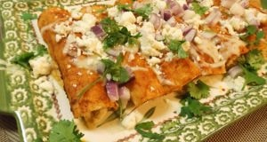 Chicken Enchiladas with Ancho Chile Sauce