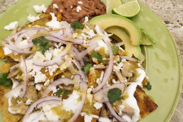Chilaquiles Verdes with Chicken