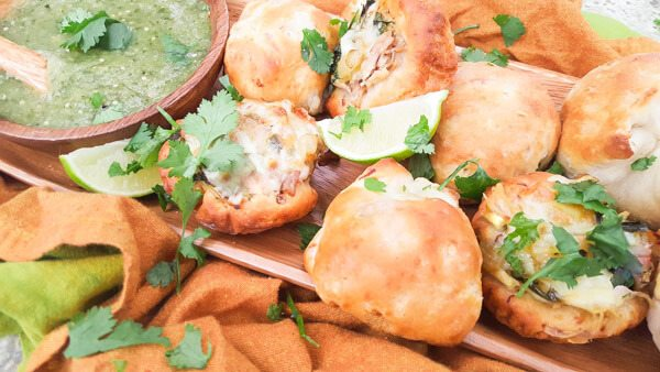 Cheesy Chicken Poblano Panecillos