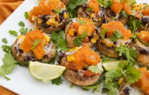 Savory Vegetarian Stuffed Mushrooms