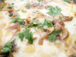 Garlic and Mushroom Queso Fundido Dip