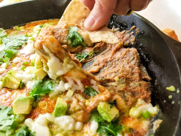 The Best Roasted Poblano Bean Dip