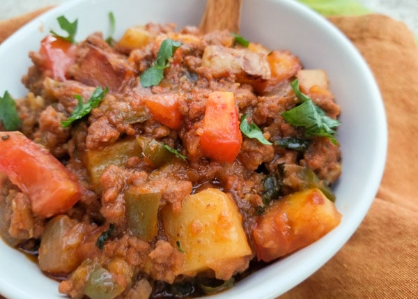 Authentic Mexican picadillo recipe with potatoes