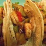 Shrimp Tacos with Cilantro Cream Sauce