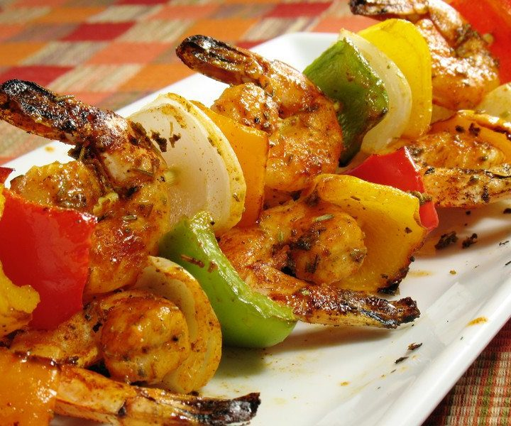 Mini Chipotle-Lime Shrimp Kabobs