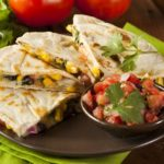Spicy Quesadilla Wedges with Pico de Gallo