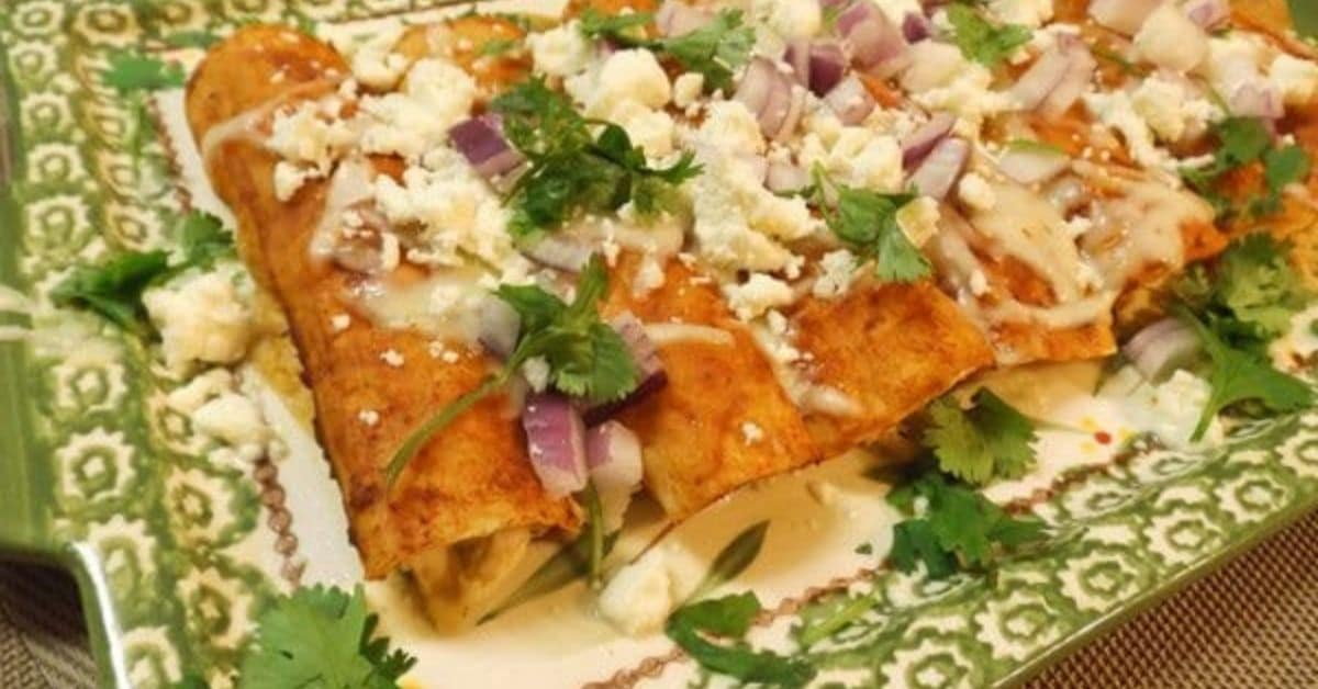 Authentic Mexican Chicken Enchiladas With Red Sauce Mexican Appetizers And More