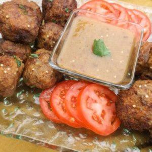 Best Turkey Meatballs with Serrano Chipotle Sauce
