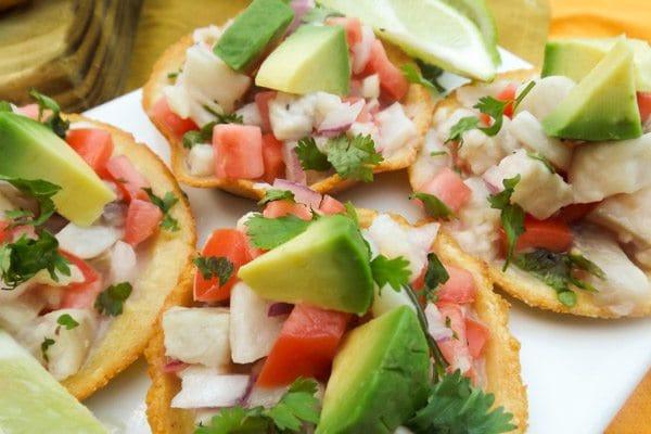 Ceviche Chilapitas with cilantro, avocado cubes for topping-Chilapitas Mixtos