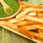 Yucca Fries with Cilantro Aioli