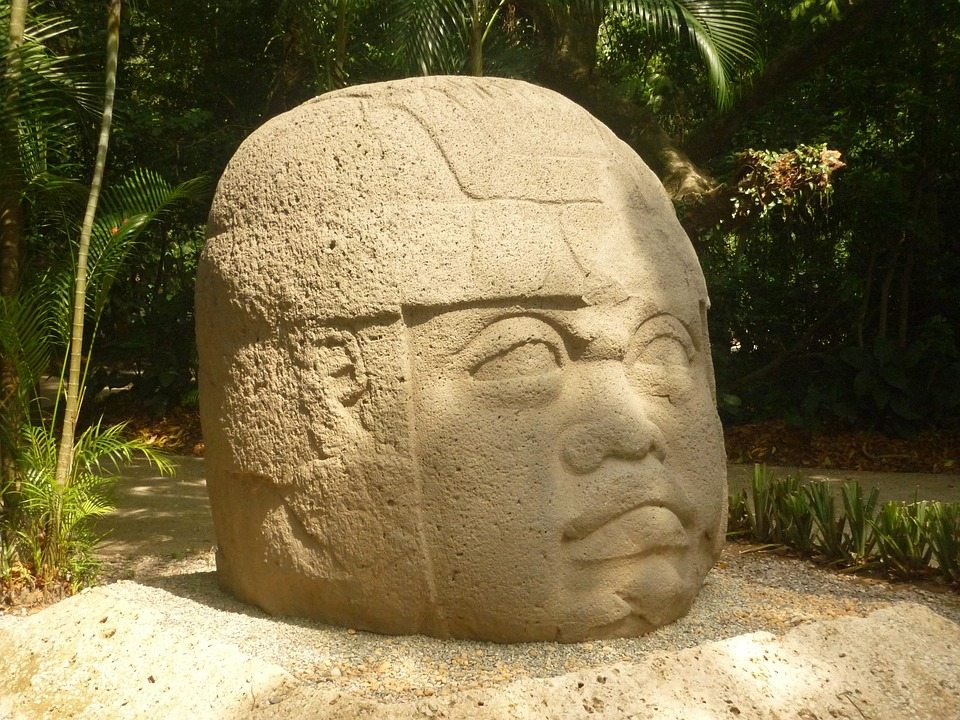 Olmec head in tabasco, MX