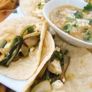 Tacos Rajas Poblanas