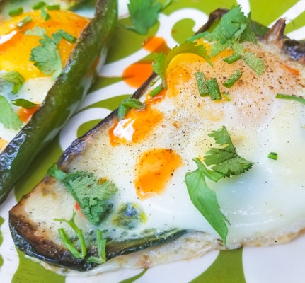 Eggs In Poblano Pepper Boats