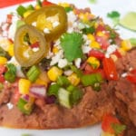 Vegetarian Tostadas with Corn Pico de Gallo