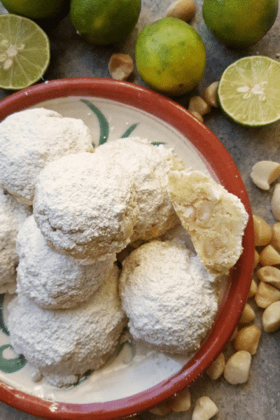 Mexican Wedding Cookies with Lime and Macadamia-Festive Season is Not Over