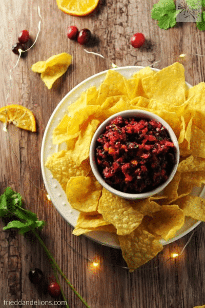 Cranberry Salsa for Christmas-Festive Season is Not Over