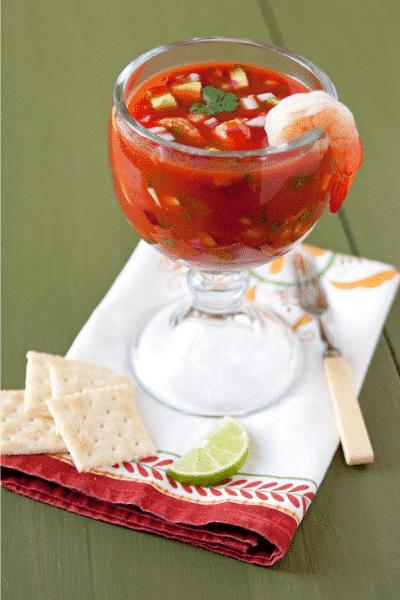 Coctel de Camarones (Mexican Shrimp Cocktail) - Festive Season is Not Over