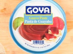 Guava paste in original tin can for the Pastelillos de Guayaba,
