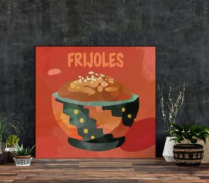 Frijoles Art Print, Mexican and Latin Kitchen Art