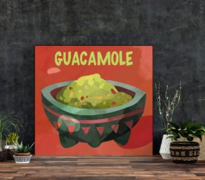 Guacamole art print
