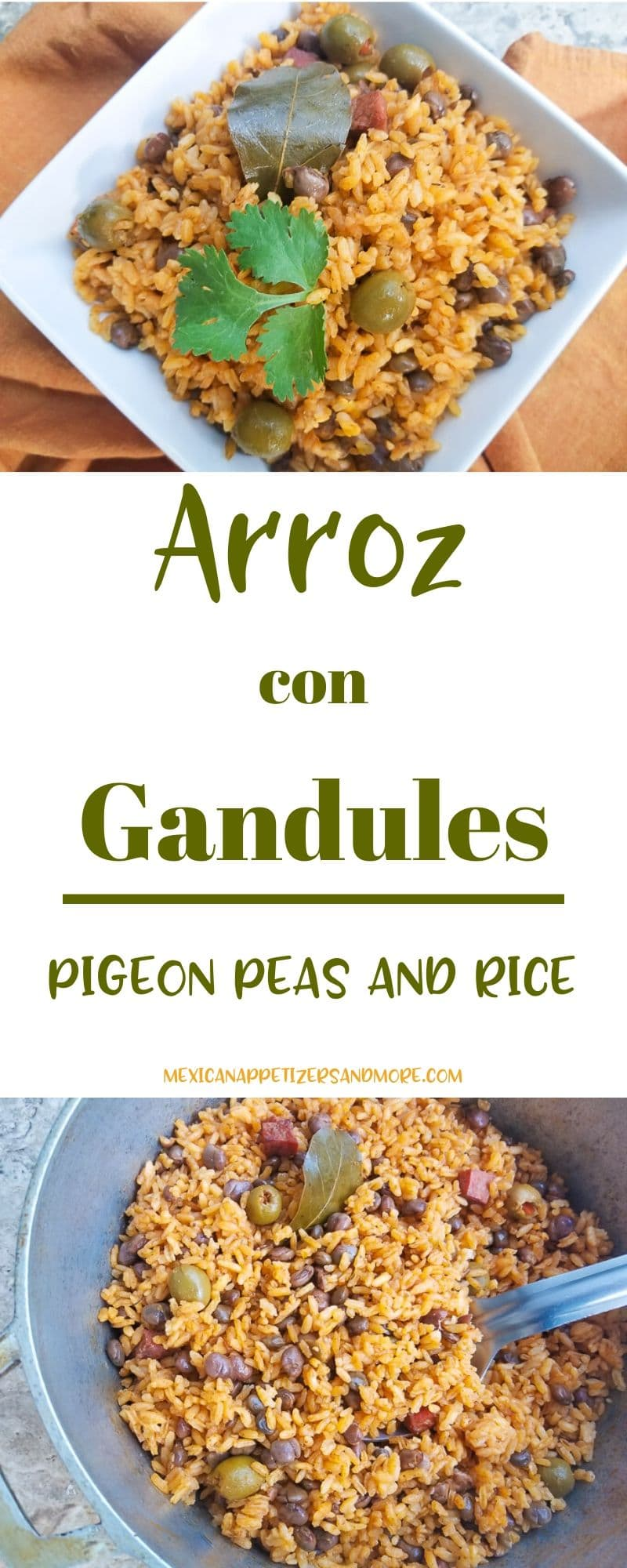 Arroz con Gandules (Pigeon Peas and Rice) is the quintessential rice of Puerto Rico. Always served for the holidays and never absent from the table. #arrozcongandules #pigeonpeasandrice) #puertoricanchristmasdishes #puertoricanchristmasricedishes #puertoricanricedishes #ricedishes #christmasricedishes#pigeonpeasandricepuertorico #pigeonpeasandricecaribbean #pigeonpeasrecipe #pigeonpeas