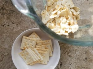 Crackers in a blender.