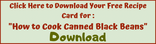 "Download recipe card for ""How to Cook Canned Black Beans"""