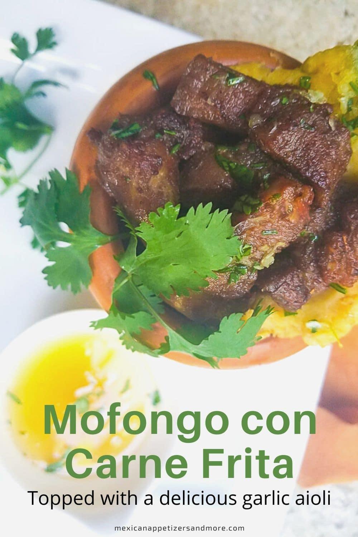 Mofongo con Carne Frita