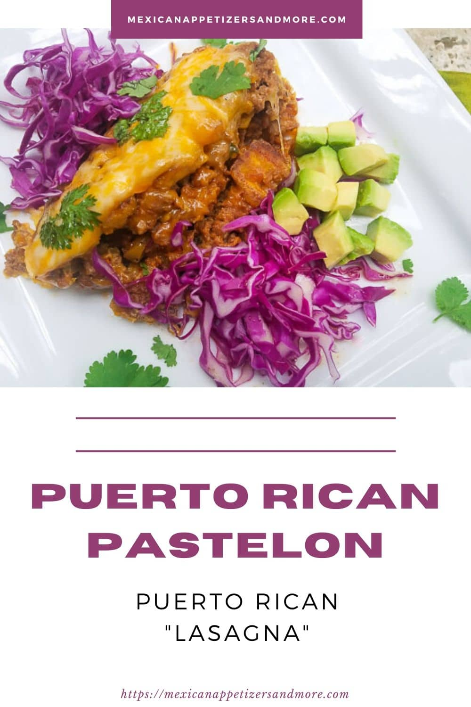 Pastelón (Puerto Rican Plantain \