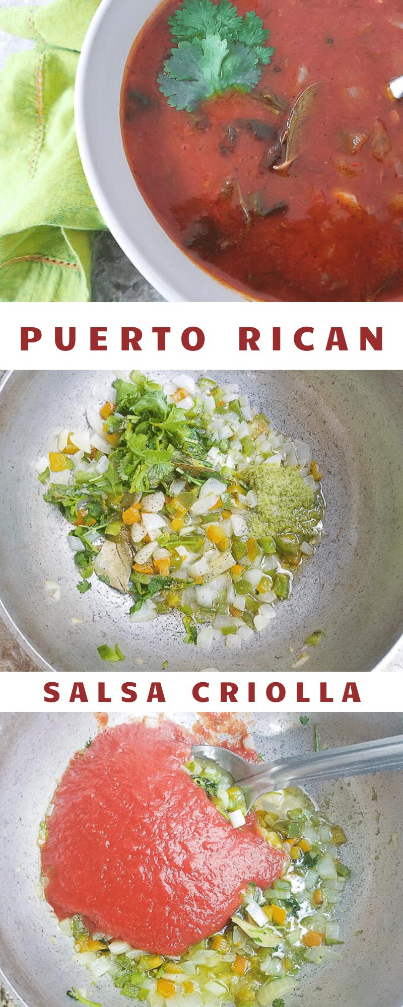 Puerto Rican Salsa Criolla
