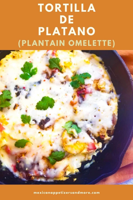 Tortilla de Plátano (Plantain Omelette)
